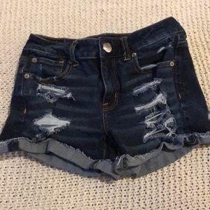American Eagle Jean Shorts (dark wash)